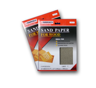 Abracs Abrasives Sandpaper Sheets - for wood