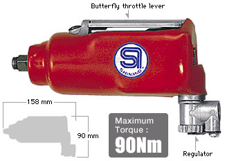 """3/8"""" Impact Wrench SI-1305, Shinano Air Tools"""