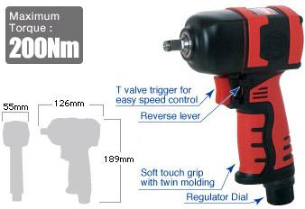 """3/8"""" Impact Wrench SI-1357, Shinano Air Tools"""