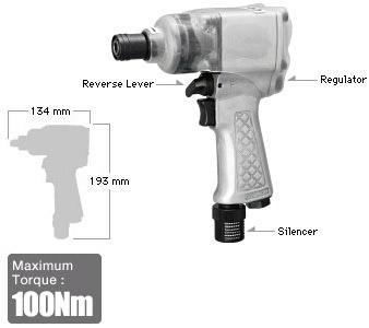 """3/8"""" Impact Wrench SI-1365, Shinano Air Tools"""