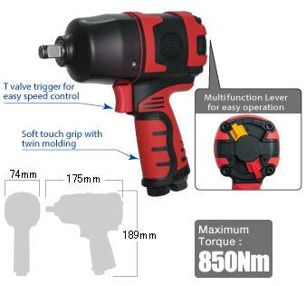 """1/2"""" Impact Wrench SI-1490A, Shinano Air Tools"""