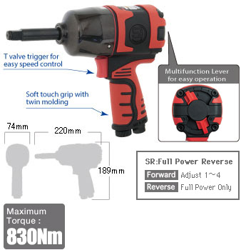 1/2 Inch Impact Wrench | Shinano Air Tools