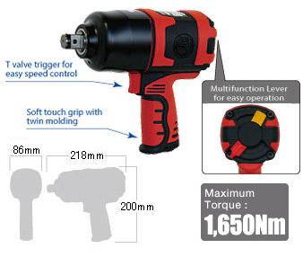 """3/4"""" Impact Wrench SI-1550, Shinano Air Tools"""