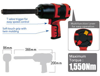 "3/4"" Impact Wrench SI-1556, Shinano Air Tools"