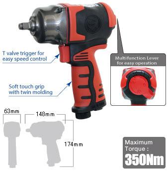 """3/8"""" Impact Wrench SI-1605, Shinano Air Tools"""