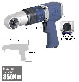 "1/2"" Impact Wrench SI-1650AH, Shinano Air Tools"
