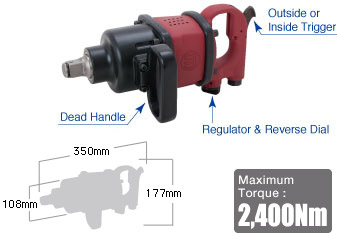 "1"" Impact Wrench SI-1876, Shinano Air Tools"