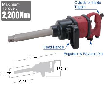 """1"""" Impact Wrench SI-1878, Shinano Air Tools"""