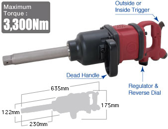 "1"" Impact Wrench SI-1888, Shinano Air Tools"